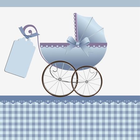 Modèle cute pour carte de bébé arrivée annonce