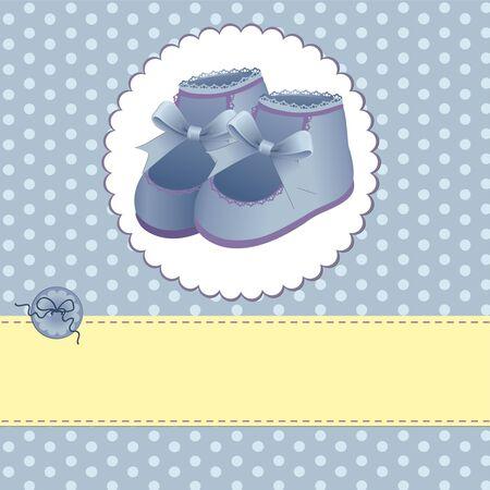 Cute template for baby arrival announcement card Vector
