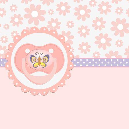 pacifier: Linda plantilla de tarjeta de presentación de llegada de bebé
