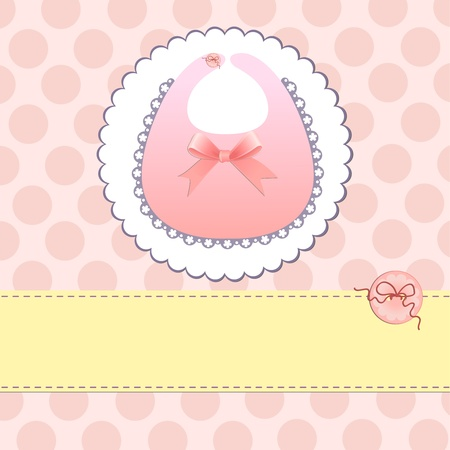 Cute template for baby arrival announcement card