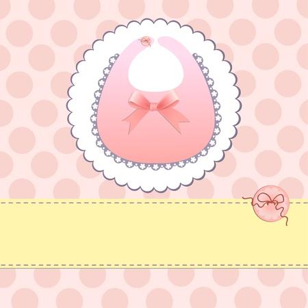 babero: Linda plantilla de tarjeta de presentación de llegada de bebé