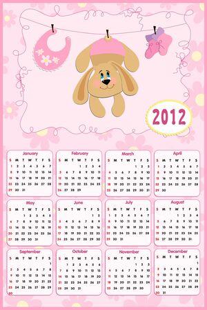 arrive: Babys calendar for year 2012