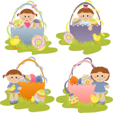 Cute easter illustration set Stock Vector - 9541268