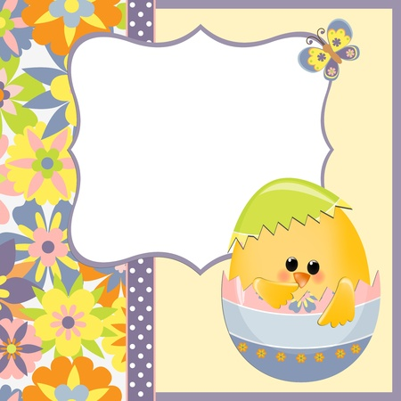 Cute template for Easter greetings card Stock Vector - 9541210