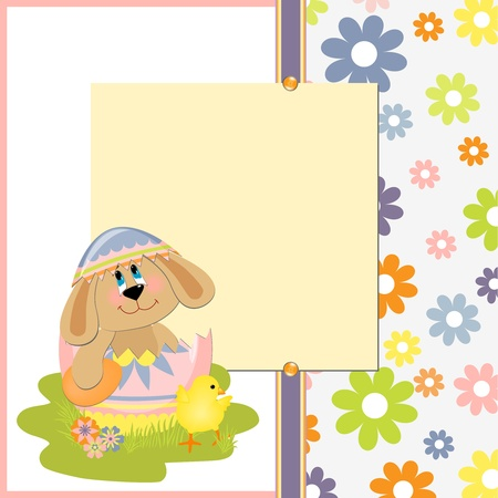Cute template for Easter greetings card Stock Vector - 9541206