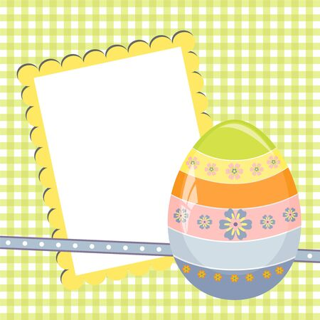 Cute template for Easter greetings card Stock Vector - 9541119
