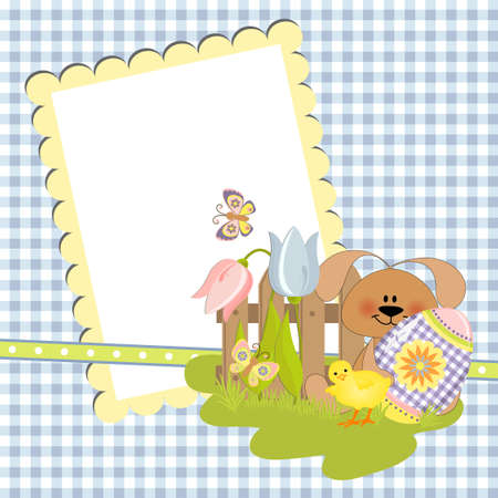 Cute template for Easter greetings card Stock Vector - 9541241