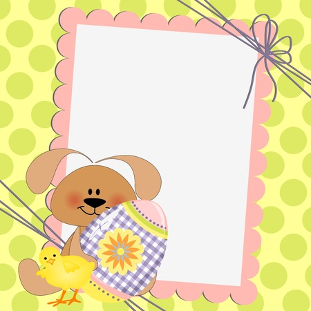 Cute template for Easter greetings card Stock Vector - 9541198