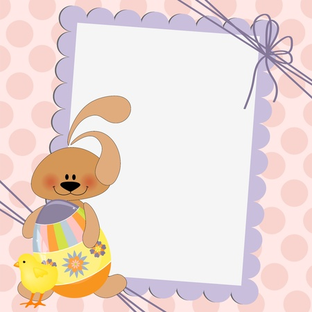 Cute template for Easter greetings card Illustration