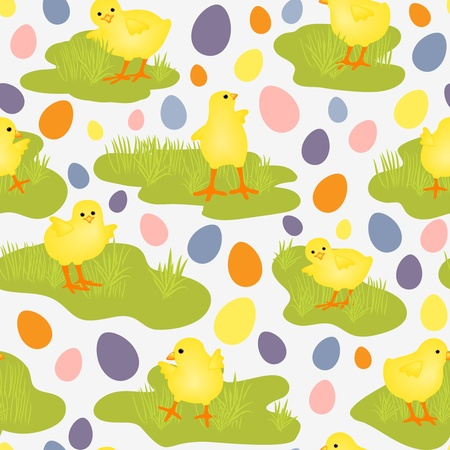 Cute seamless pattern with Easter theme Vector
