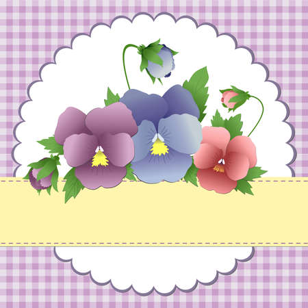 Cute template for Mother's Day greetings card Stock Vector - 9541203