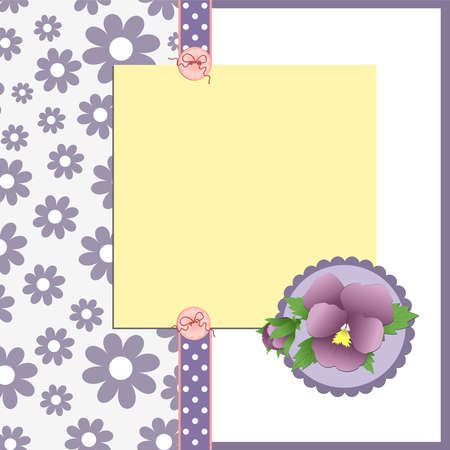 Cute template for Mother's Day greetings card Stock Vector - 9539728