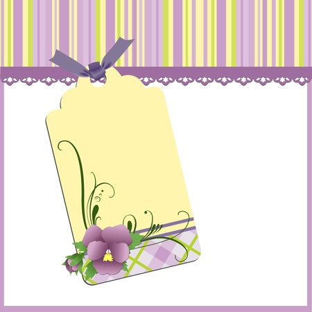 pansy: Cute template for Mothers Day greetings card