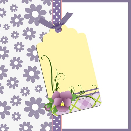 Cute template for Mother's Day greetings card