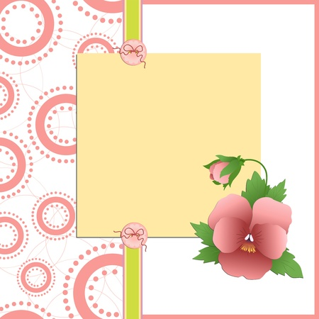 Cute template for Mother's Day greetings card Stock Vector - 9541158