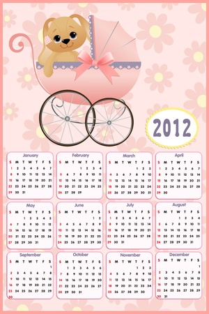 arrive: Baby calendar 2012