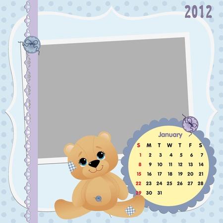 Baby calendar 2012 Stock Vector - 10475071