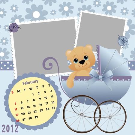 Baby calendar 2012 Stock Vector - 10475080
