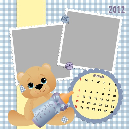 Baby calendar 2012 Stock Vector - 10475106