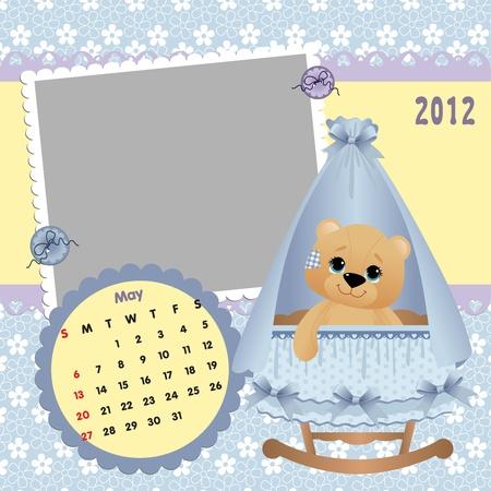 Baby calendar 2012 Stock Vector - 10475092