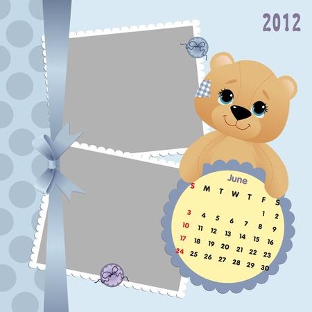 Baby calendar 2012 Stock Vector - 10475069