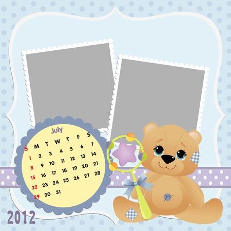 Baby calendar 2012 Stock Vector - 10475077