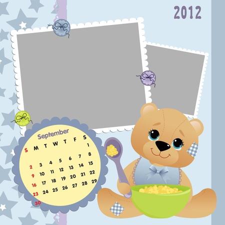 Baby calendar 2012 Stock Vector - 10475103