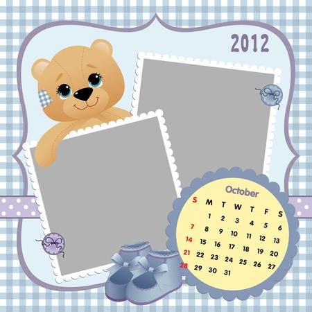 Baby calendar 2012 Stock Vector - 10475113