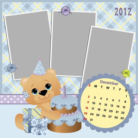 Baby calendar 2012 Stock Vector - 10475111