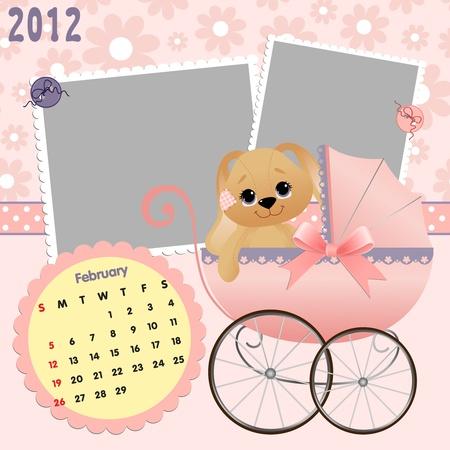 Baby calendar 2012 Stock Vector - 10475082
