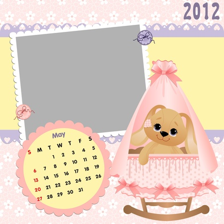 Baby calendar 2012 Vector Illustration