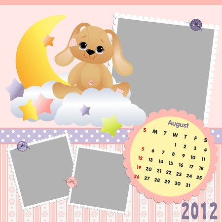 Baby calendar 2012 Stock Vector - 10475098