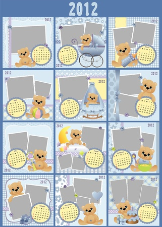 Baby's monthly calendar for 2012 Stock Vector - 10533871
