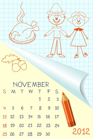schoolbook: Cute schoolbook style calendar for 2012