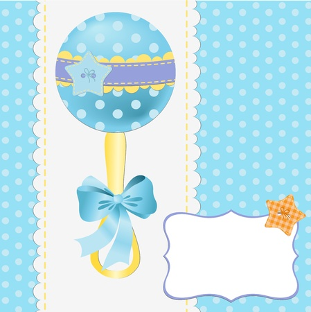 greeting people: Cute template for baby arrival announcement card Illustration