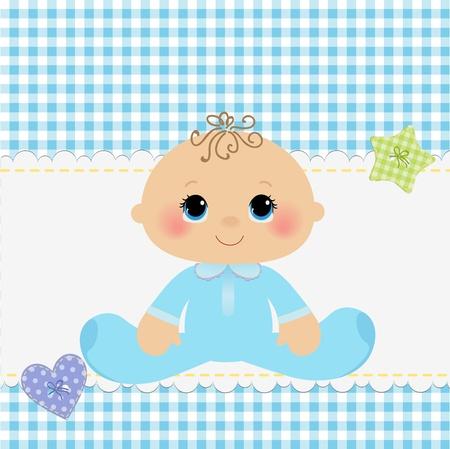 Plantilla linda para la tarjeta de aviso del bebé llegada