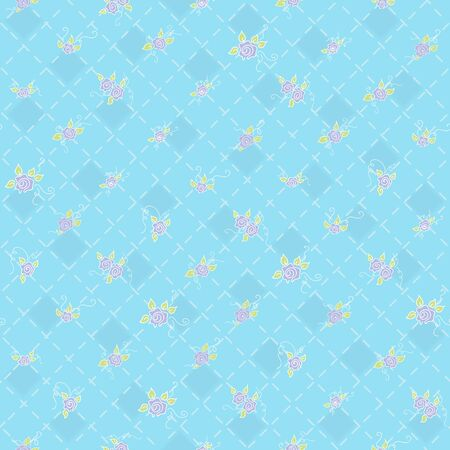 Cute seamless background with floral ornament flowers Vector