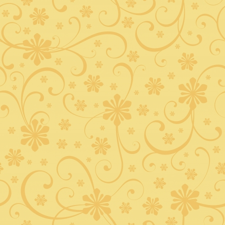 Christmas seamless background with floral theme Vector