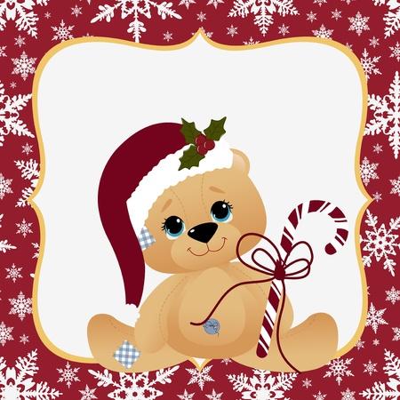 christmas postcard: Cute christmas postcard template