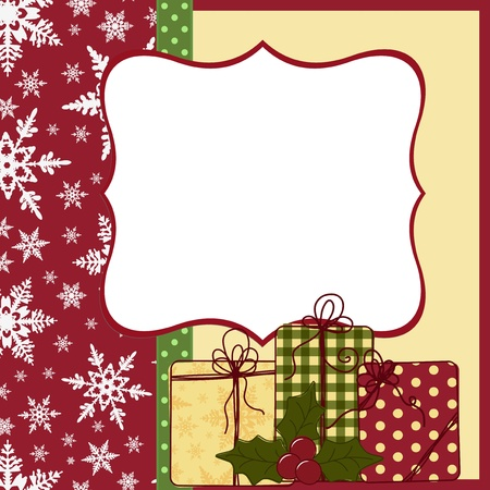 cute christmas: Cute christmas postcard template