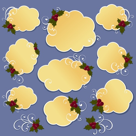 Cute christmas design elements Vector
