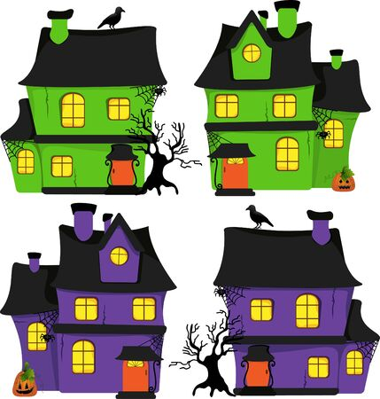 Halloween scrapbook design elements Vector