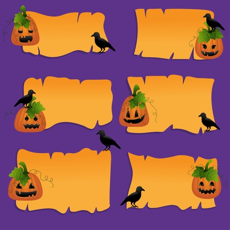 Halloween Scrapbook Design-Elemente