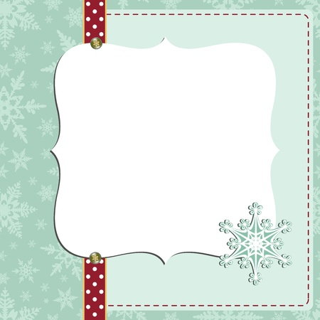 holiday background: Cute christmas new Year postcard template
