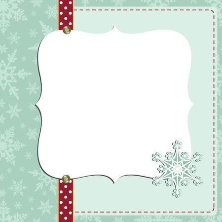christmas photo frame: Cute christmas new Year postcard template