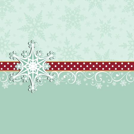 snowflake: Cute christmas new Year postcard template