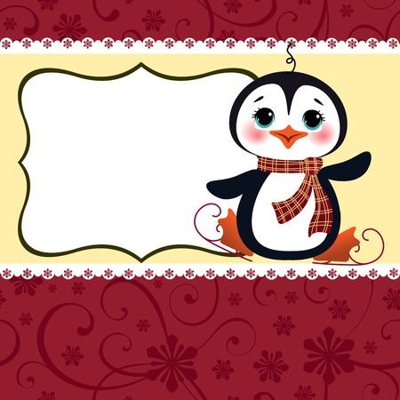 ice skates: Cute christmas new Year postcard template