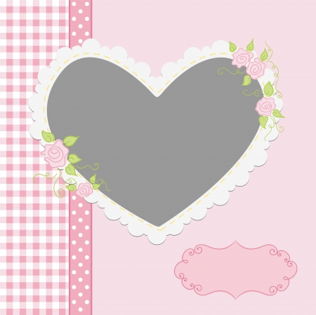 cute border: Blank template for greetings card