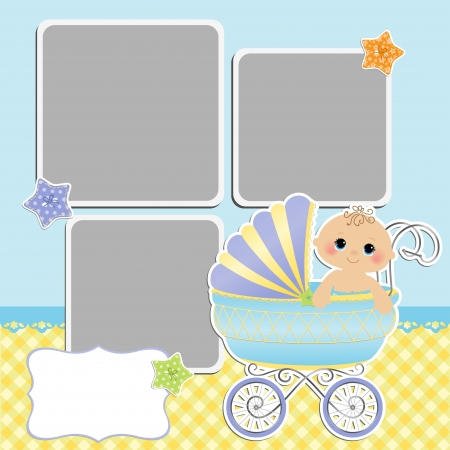 photo album: Cute template for baby s card