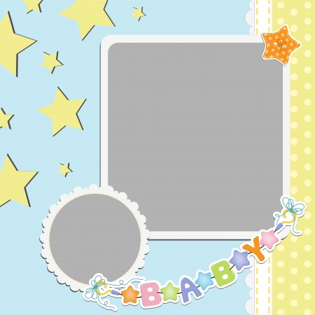 baby s: Cute template for baby s card
